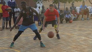 Professor 1v1 vs Two College African Hoopers... Gets locked up multiple times, EPIC endings Video