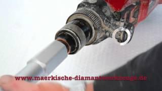 """Anwendung Adapter passend für Hilti DD 130 mit 1 1/4"""" Bohrkrone"""