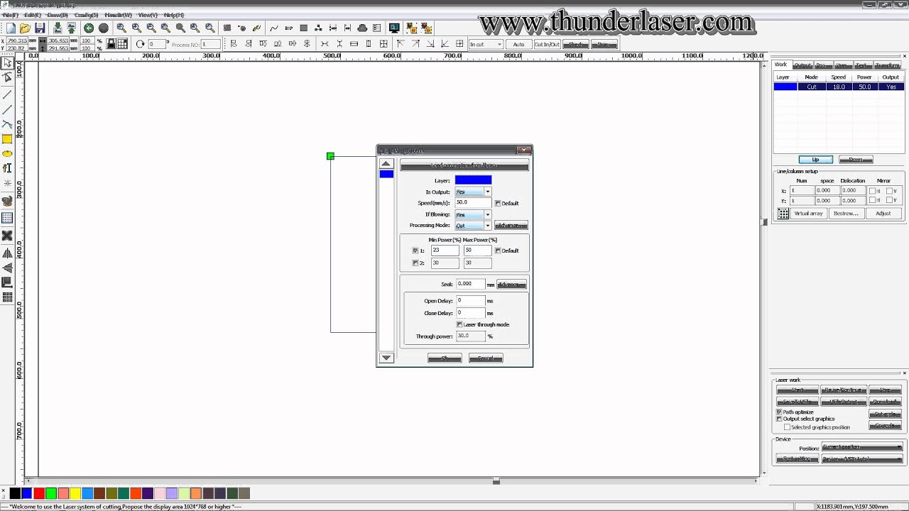 laser cutter software rdworks v8 tutorial 12 How to Set Cutting Parameters