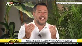 "🔴 Intervista al Senatore Matteo Salvini a ""Start"" su Sky (03/08/2020)."