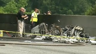 Private plane crashes into Atlanta highway