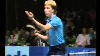 Waldner v Li Gun Sang (Chopper) Part 1 1987 Euroasian Semi finals