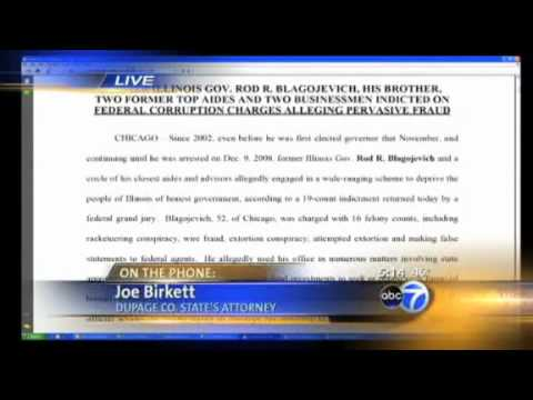 Birkett reacts to Blagojevich indictment