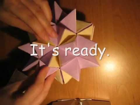 Origami Revealed Flower Ball Tutorial Youtube