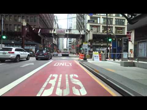 Chicago Loop Link - Sunday Bike Ride - Winter 2016 - 4K