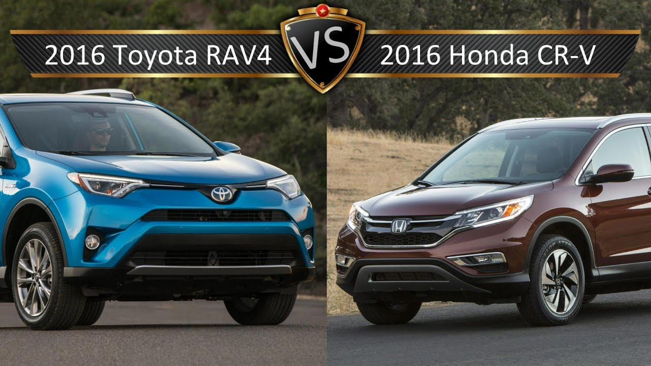 2016 toyota rav4 vs honda cr v by the numbers youtube