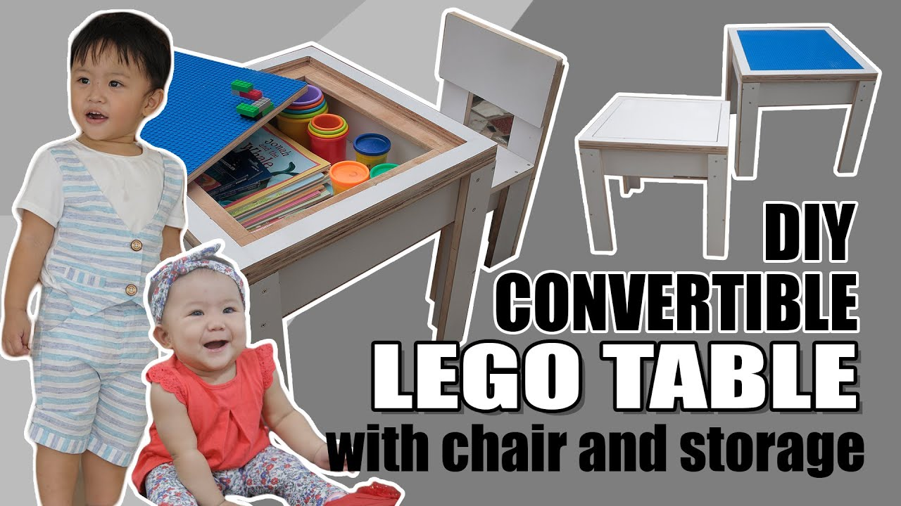 Diy Convertible Lego Table With Chair