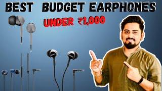 Top 6 BEST Earphones under 1000 rupees in India ⚡ | Best Value for Money Earphones ⚡⚡