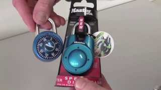 Masterlock Speed Dial Unboxing Demonstration and How To Change Combination 1500iD
