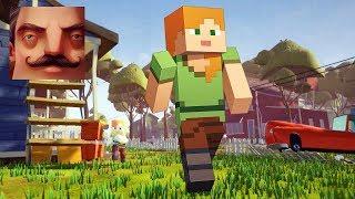 Hello Neighbor - My New Neighbor Alex Minecraft Act 1 Gameplay Walkthrough Part 562