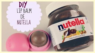 diy lip balm de nutella