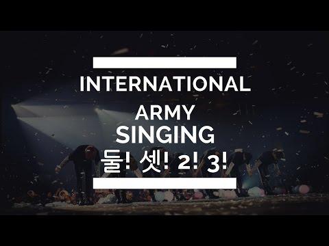 International ARMY Singing 둘! 셋! , 2! 3! BTS WINGS TOUR