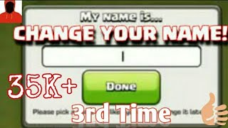 How to change COC name 3 times(sept 2017method)- must see- no root English/Hindi