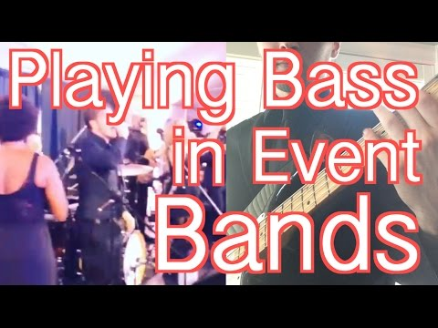 Playing Bass in Weddings with Event Bands [ AN's Bass Lessons #6 ]