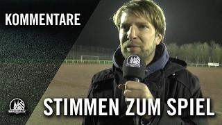 Die Stimmen zum Spiel (SV Rheidt - Horremer SV, U17 B-Junioren, 1. Kreisklasse, St. 9)