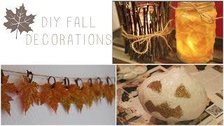 DIY Fall Decorations☂⎮English Thumbnail