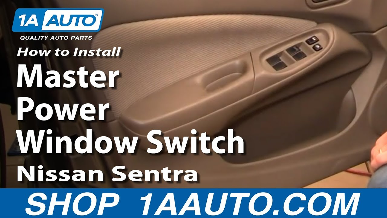 how to replace master power window switch 00 06 nissan sentra [ 1280 x 720 Pixel ]