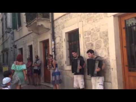 Lovely street performance in Kotor, Montenegro