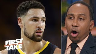 Steve Kerr says Klay Thompson 'unlikely' to play this season, Stephen A. doesn't buy it | First Take