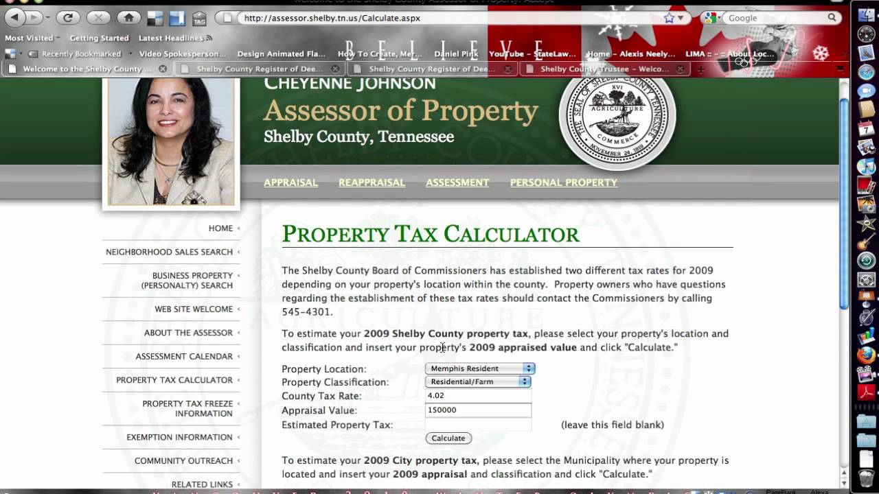 Memphis Real Estate Shelby County Assessor Youtube