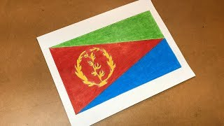 Eritrean Flag Drawing 🇪🇷