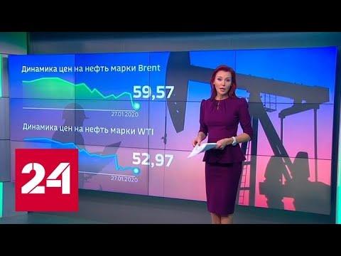 Из-за китайской эпидемии стоимость нефти опустилась до минимумов октября - Россия 24