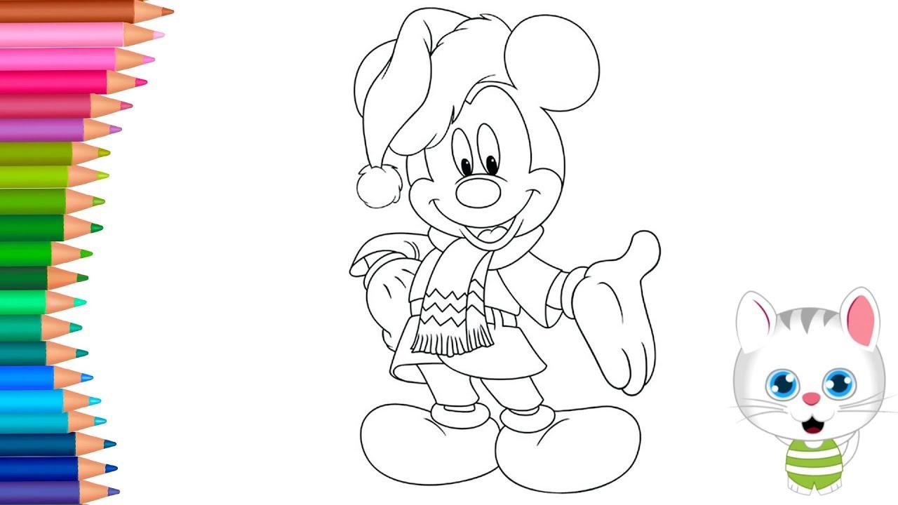 Yilbasi Mickey Mouse Boyama Nasil Yapilir Nasil Cizilir Boyama