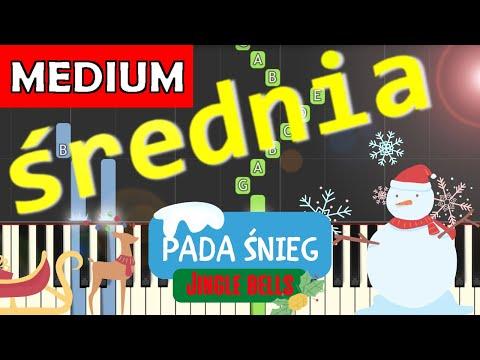 Pada śnieg (Dzwonki sań, Jingle bells) - Piano Tutorial (średnia wersja) (MEDIUM)