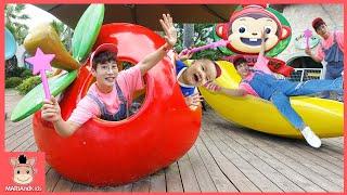 놀이공원 키즈카페 신나게 놀아봐요! 코코몽 에코파크 Outdoor indoor Playground Pretend play for kids | 말이야와아이들 MariAndKids