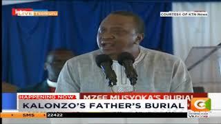 President Kenyatta remarks during Kalonzo Musyoka's father burial