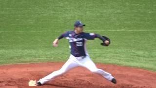 2017.04.15 埼玉西武 野上亮磨 投球練習