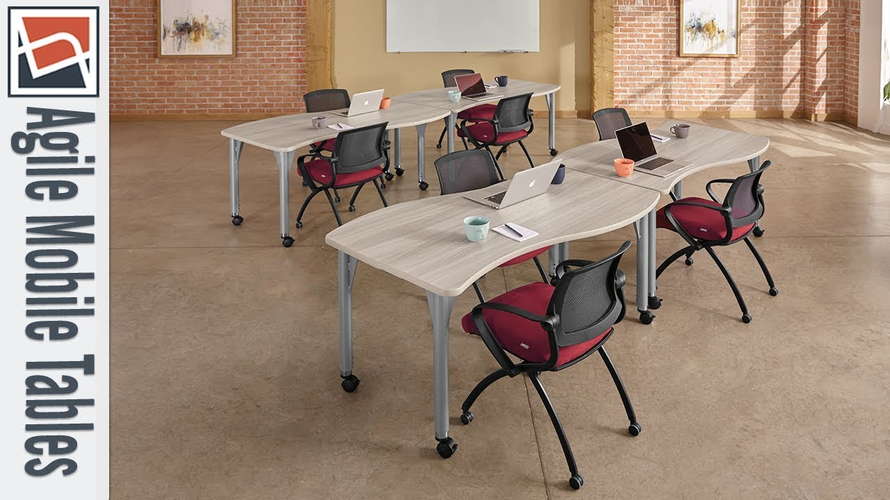 Training Tables NBF Signature Series Agile Height Adjustable - Adjustable training table