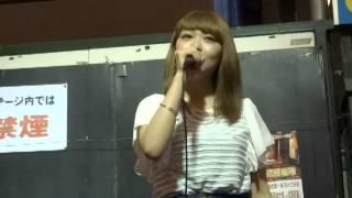 京橋の商店街ライブ.