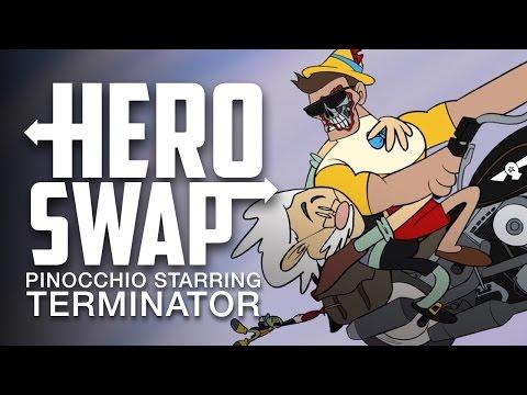 Pinocchio Starring Terminator - Hero Swap