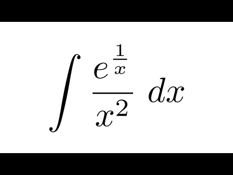 integral of e 1 x x 2 substitution youtube
