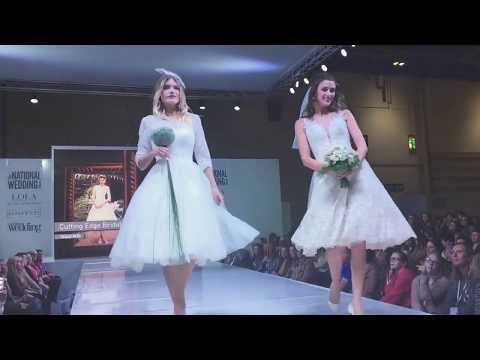 Cutting Edge Brides Short Wedding Dresses at National Wedding Show London Excel Oct 17 Tea Length