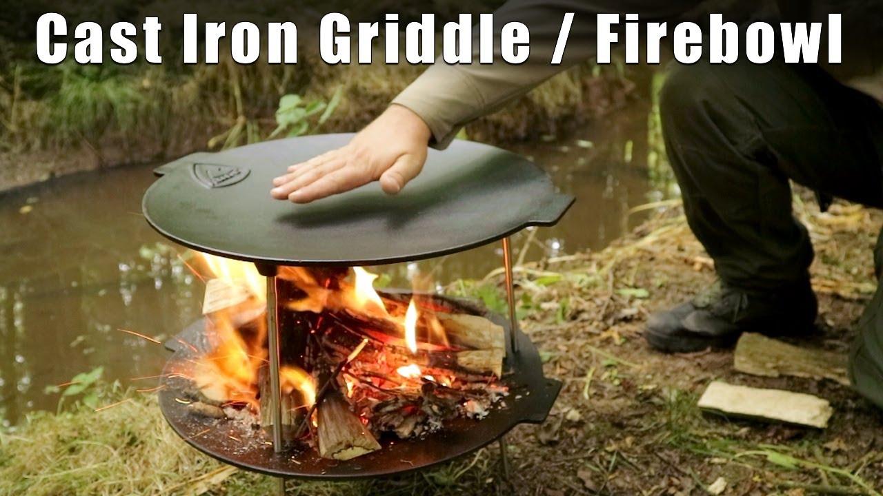 Cast Iron Griddle pan & Fire Bowl