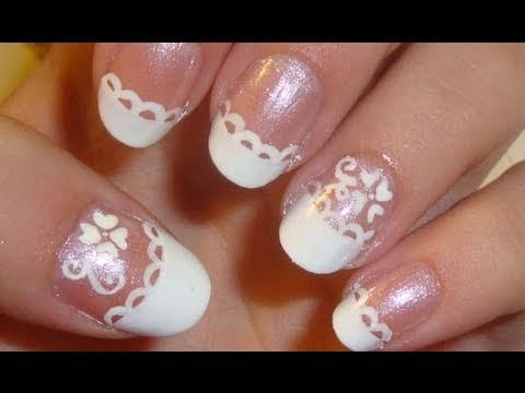 simple and easy wedding inspired nail art  youtube