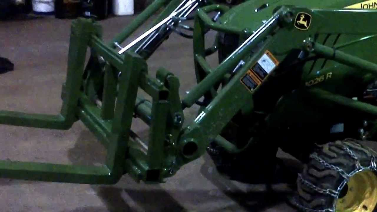 John Deere 1026r Attachments : John deere r homemade attachments youtube