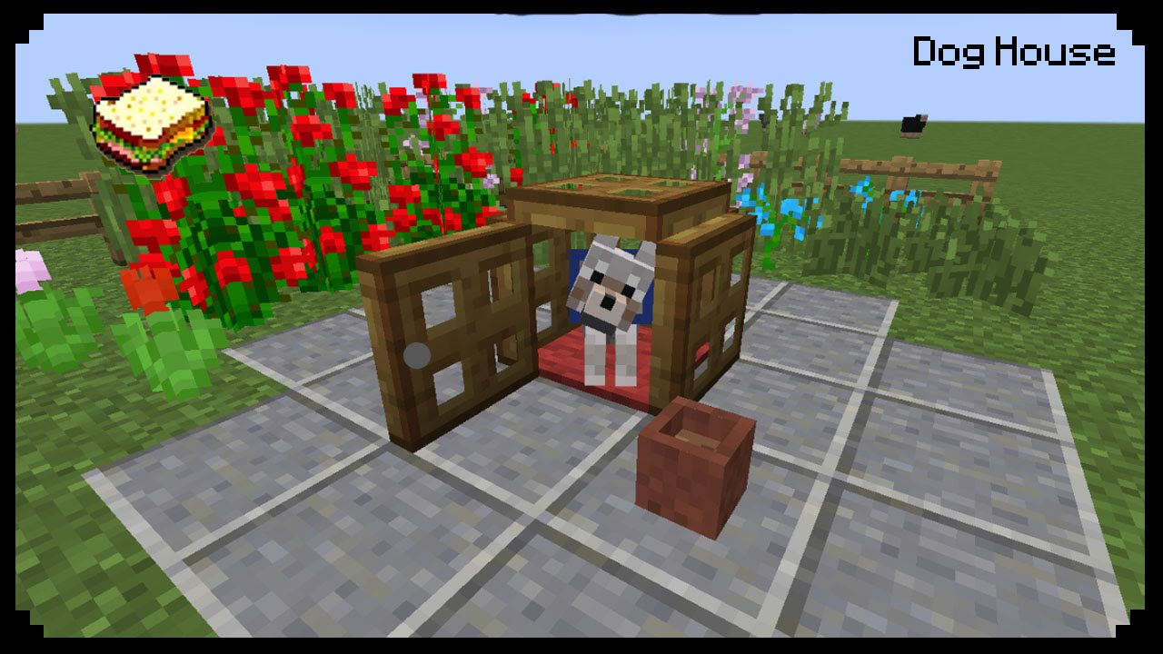 Minecraft: How to make a Dog House - YouTube