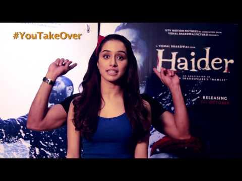 Haider | Shahid Kapoor & Shraddha Kapoor | YouTube Takeover | Oct 1st