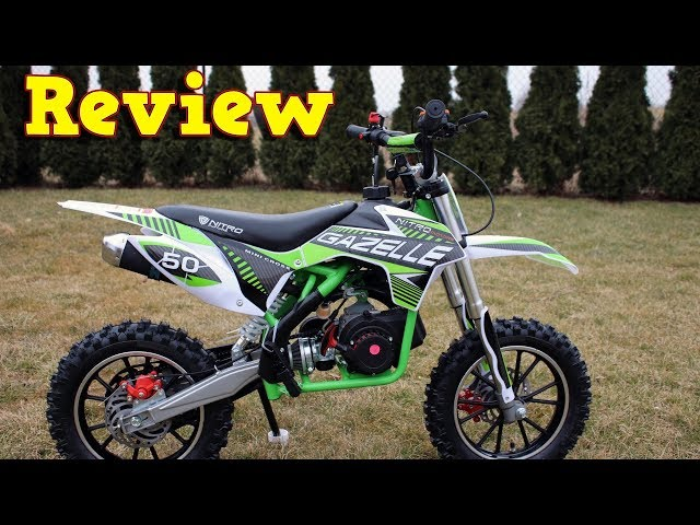 Gazelle Mini Dirt Bike - Video Review - Cross 49cc - from Nitro ...