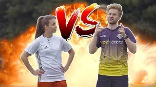 ULTIMATE FOOTBALL CHALLENGES VS GIRL 🙋