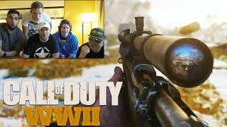 Call of Duty® WW2 MULTIPLAYER GAMEPLAY Reveal YOUTUBERS REACT!