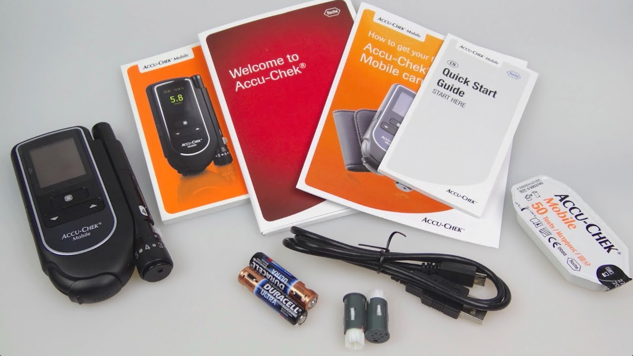 Free Blood Glucose Meter >> Accu-Chek Mobile - Diabetic Blood Glucose Meter Review - YouTube