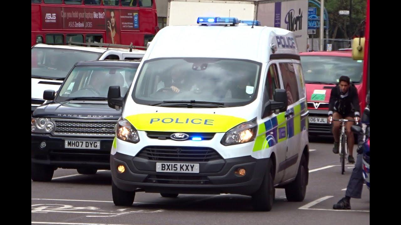 London Metropolitan Police Van Quot Gamma 2 Quot Siren Youtube