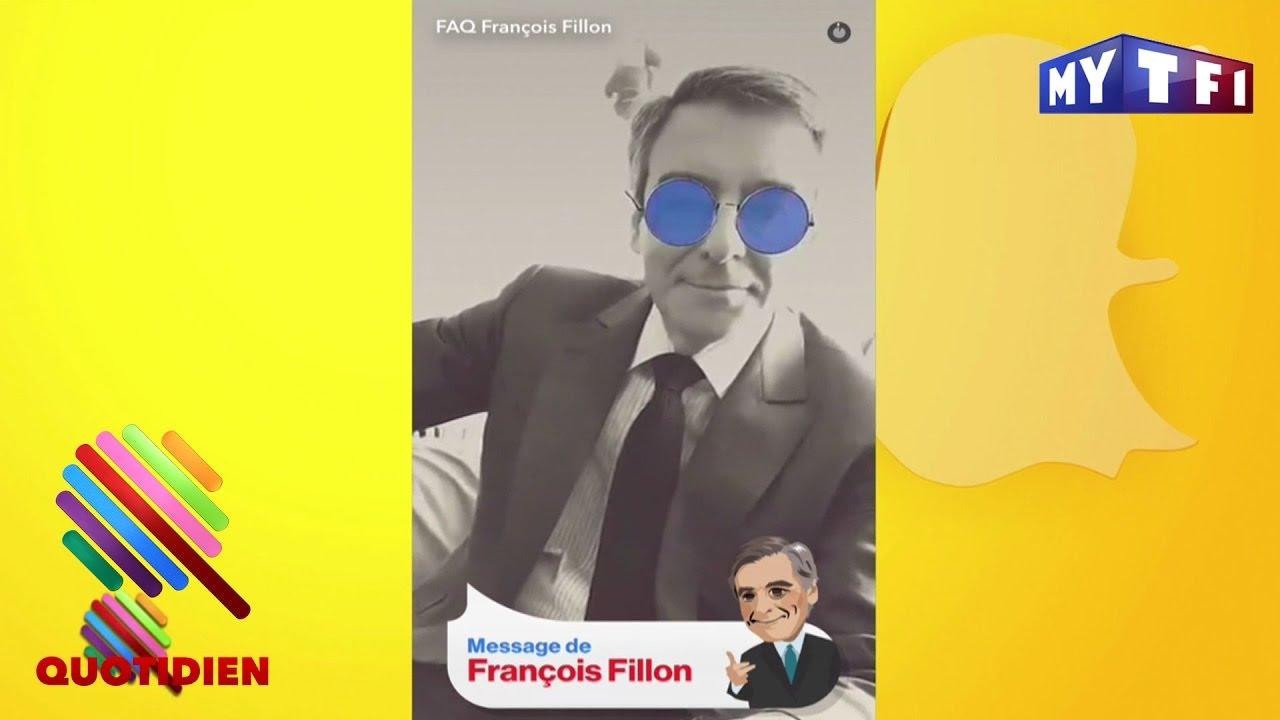 fran u00e7ois fillon se l u00e2che sur snapchat - quotidien du 17 avril 2017