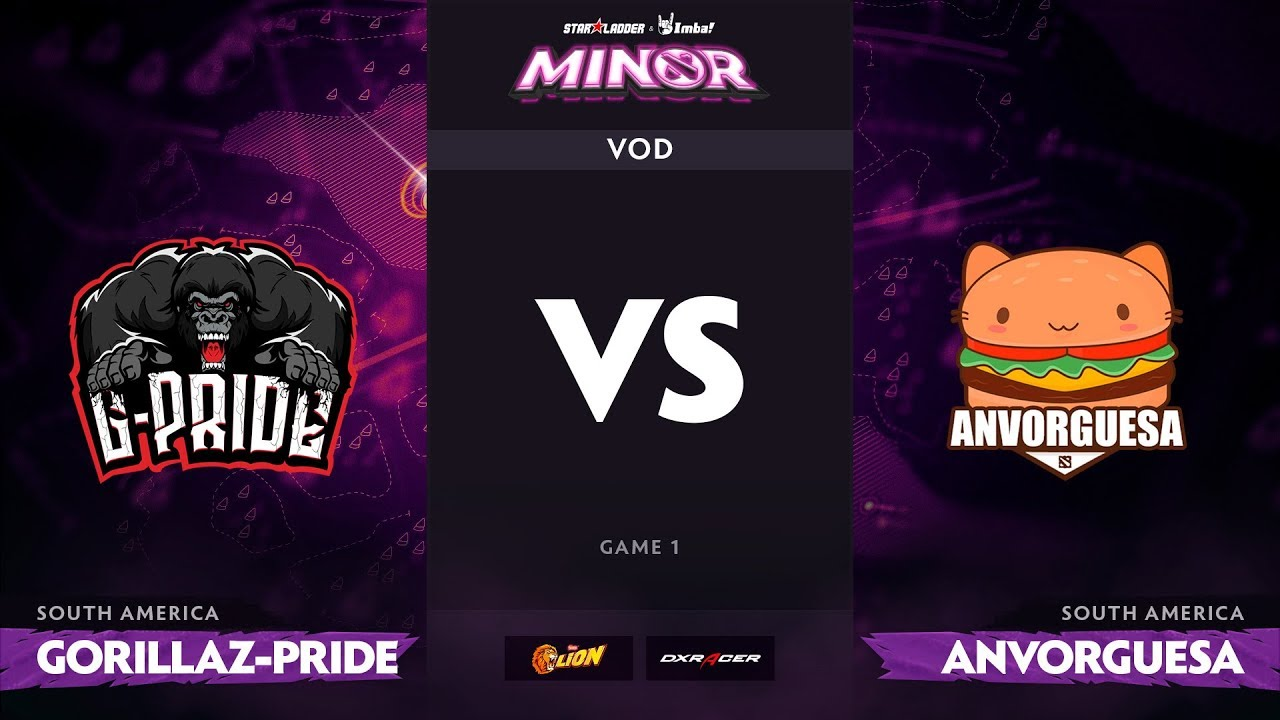 [RU] Gorillaz-Pride vs Anvorguesa, Game 1, StarLadder ImbaTV Dota 2 Minor S2 SA Qualifiers