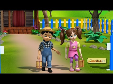 Jack and jill went up the hill | Jack and jill | Nursery rhymes | Baby songs | Kiddiestv