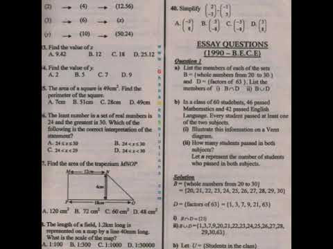 Bece Past Questions Pdf